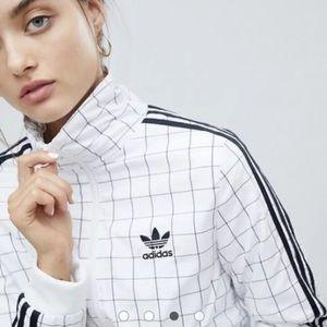 Adidas Grid Print Track Jacket, RARE FIND size M